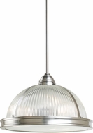 Seagull 65062BLE-962 Pratt Street Prismatic Brushed Nickel Fluorescent 17.5  Pendant Light