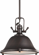 Seagull 6514401BLE-710 Stone Street Nautical Burnt Sienna Fluorescent 17.25  Pendant Light Fixture