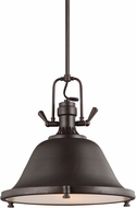 Seagull 6514402BLE-710 Stone Street Nautical Burnt Sienna Fluorescent 21.75  Pendant Hanging Light