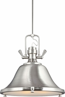 Seagull 6514403BLE-962 Stone Street Nautical Brushed Nickel Fluorescent Drum Ceiling Pendant Light