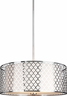 Seagull 6515503BLE-962 Jourdanton Contemporary Brushed Nickel Fluorescent Pendant Lighting
