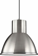 Seagull 6517401BLE-962 Division Street Brushed Nickel Fluorescent Pendant Light Fixture