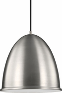 Seagull 6525401BLE-04 Hudson Street Contemporary Satin Aluminum Fluorescent Hanging Light