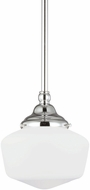 Seagull 65436BLE-05 Academy Chrome Fluorescent Medium Hanging Lamp