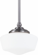 Seagull 65436BLE-962 Academy Brushed Nickel Fluorescent Medium Pendant Light Fixture