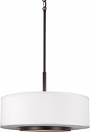 Seagull 6628003EN-782 Nance Contemporary Heirloom Bronze LED Drum Ceiling Light Pendant