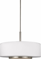 Seagull 6628003EN-962 Nance Modern Brushed Nickel LED Drum Ceiling Pendant Light