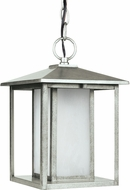 Seagull 69029EN-57 Hunnington Contemporary Weathered Pewter LED Outdoor Hanging Pendant Lighting