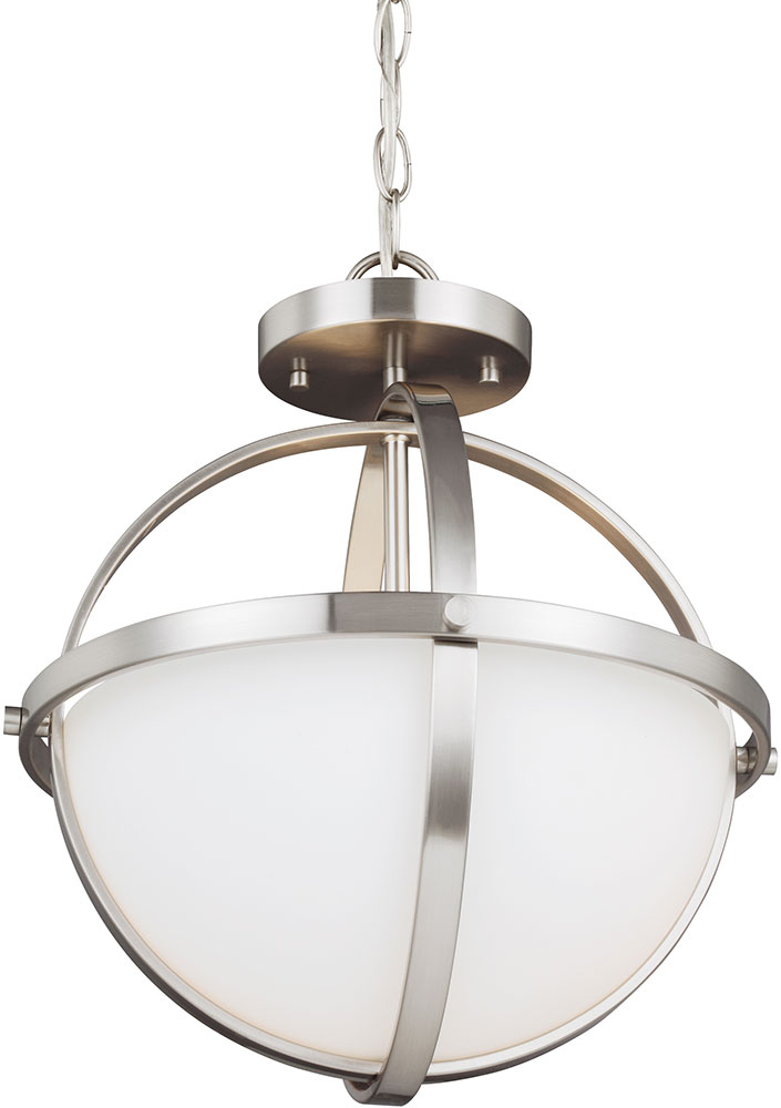 seagull 7724602ble 962 alturas modern brushed nickel fluorescent drop ceiling lighting ceiling