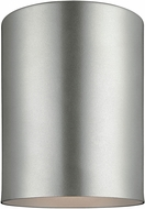 Seagull 7813801-753 Outdoor Bullets Contemporary Painted Brushed Nickel Outdoor Ceiling Lighting Fixture