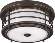 Seagull 7824452EN-71 Sauganash Modern Antique Bronze LED Exterior Ceiling Light Fixture