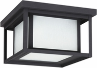 Seagull 79039-12 Hunnington Contemporary Black LED Outdoor Flush Lighting