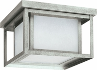 Seagull 79039-57 Hunnington Modern Weathered Pewter LED Exterior Flush Mount Lighting