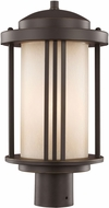 Seagull 8247901EN-71 Crowell Contemporary Antique Bronze LED Outdoor Post Light Fixture