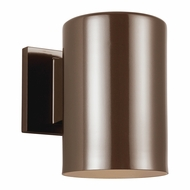 Seagull 8313801-10 Outdoor Bullets Contemporary Bronze Exterior Wall Mounted Lamp