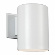 Seagull 8313801-15 Outdoor Bullets Modern White Outdoor Wall Light Sconce