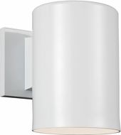 Seagull 8313801EN-15 Contemporary White LED Exterior Wall Light Sconce