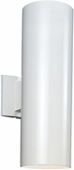 Seagull 8313802-15 Outdoor Bullets Contemporary White Exterior Wall Sconce Light