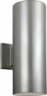 Seagull 8313802-753 Outdoor Bullets Modern Painted Brushed Nickel Outdoor Wall Sconce