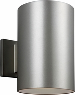 Seagull 8313901-753 Outdoor Bullets Contemporary Painted Brushed Nickel Exterior Sconce Lighting