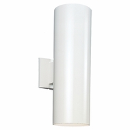 Seagull 8313902-15 Outdoor Bullets Contemporary White Exterior Lighting Sconce