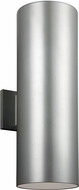Seagull 8313902EN-753 Contemporary Painted Brushed Nickel LED Exterior Lamp Sconce