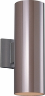 Seagull 8413891S-10 Outdoor Bullets Contemporary Bronze LED Exterior Wall Sconce Lighting
