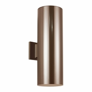 Seagull 8413991S-10 Outdoor Bullets Modern Bronze LED Outdoor Wall Lighting Sconce
