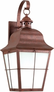 Seagull 8463DEN-44 Chatham Traditional Weathered Copper LED Outdoor Lighting Wall Sconce