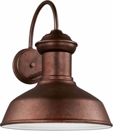 Seagull 8647701EN-44 Fredricksburg Contemporary Weathered Copper LED Outdoor Lighting Sconce