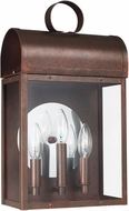 Seagull 8714803EN-44 Conroe Traditional Weathered Copper LED Exterior Wall Light Fixture