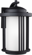 Seagull 8747901EN-12 Crowell Contemporary Black LED Exterior Wall Lighting Sconce