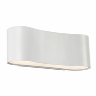 Sonneman 1725.98 Corso Contemporary Textured White Finish 13  Wide LED Wall Sconce
