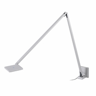 Sonneman 2052.16 Quattro Modern Bright Satin Aluminum Finish 5.5  Tall LED Wall Lamp