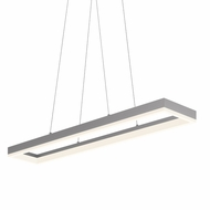 Sonneman 2310.16 Corona Contemporary Bright Satin Aluminum Finish 43  Wide LED Kitchen Island Lighting