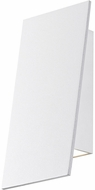 Sonneman 2361-98-WL Angled Plane Contemporary Textured White LED Indoor/Outdoor Lighting Sconce