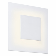 Sonneman 2368.98 Center Eclipse Modern Textured White Finish 8  Tall LED Wall Sconce Lighting