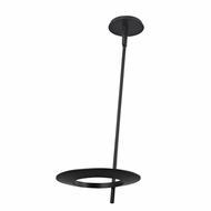 Sonneman 2418.25 Ringlo Modern Satin Black Finish 24  Tall LED Ceiling Lighting Fixture