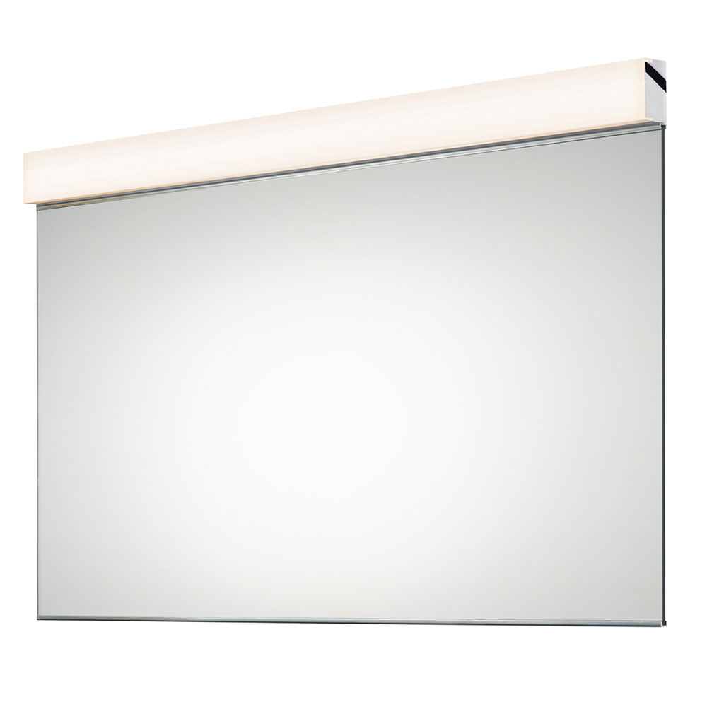 Vanity Modern Polished Chrome LED Bath Wall Mounted Mirror  SON2556