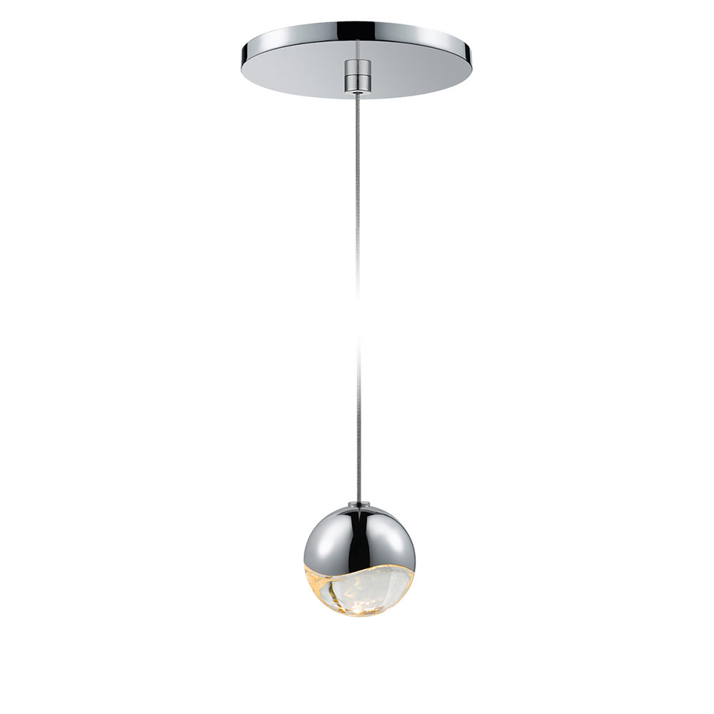 Sonneman grapes contemporary polished chrome - Small ceiling light fixtures ...
