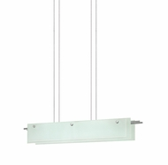 Sonneman 3218.13LED Suspended Glass Slim Contemporary Satin Nickel Finish 36  Wide LED Island Light Fixture