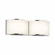 Sonneman 3872.01LED Wave Contemporary Polished Chrome Finish 16.5  Wide LED 2 Light Bath Wall Sconce