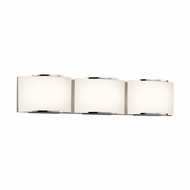 Sonneman 3873.01LED Wave Contemporary Polished Chrome Finish 24.75  Wide LED 3 Light Bathroom Lighting Sconce