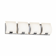 Sonneman 3884.01LED Aquo Contemporary Polished Chrome Finish 23.5  Wide LED 4 Light Bathroom Lighting Fixture