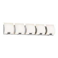 Sonneman 3885.01LED Aquo Contemporary Polished Chrome Finish 29.5  Wide LED 5 Light Vanity Light