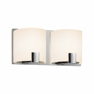 Sonneman 3892.01LED C-Shell Contemporary Polished Chrome Finish 10.5  Wide LED 2 Light Bath Lighting Fixture
