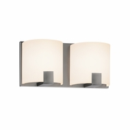 Sonneman 3892.13LED C-Shell Modern Satin Nickel Finish 5  Tall LED 2 Light Bathroom Light Fixture