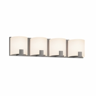Sonneman 3894.13LED C-Shell Modern Satin Nickel Finish 5  Tall LED 4 Light Bath Sconce