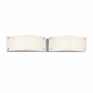 Sonneman 3912.01LED Oceana Contemporary Polished Chrome Finish 29  Wide LED 2 Light Bathroom Vanity Light Fixture