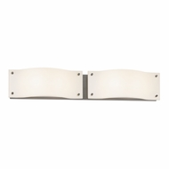 Sonneman 3912.13LED Oceana Modern Satin Nickel Finish 5.5  Tall LED 2 Light Bathroom Wall Sconce